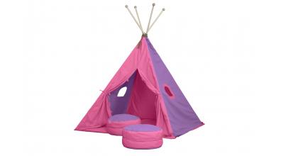 Textilie TEEPEE růžová/fialová
