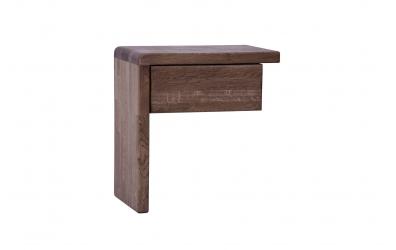 """Noční stolek FANTAZIE """"L"""" se zásuvkou levý dub cink"""