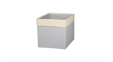 Textilní box do regálu SKANDI šedo/béžový