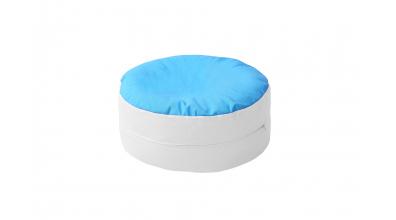 Sedací polštář tyrkysovo/bílý