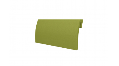 Čalouněná opěrka hlavy SOFIA & FLORENCIA - oblá zelená