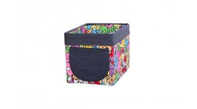 Textilní box do regálu Comics barevný