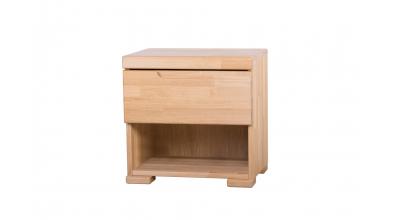 Noční stolek SOFIA & FLORENCIA 1  zásuvkový levý dub cink