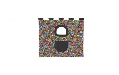 Závěsná textilie COMICS zvýšené jednolůžko - barevný