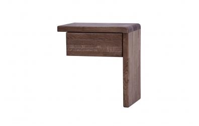 """Noční stolek FANTAZIE """"L"""" se zásuvkou pravý dub cink"""