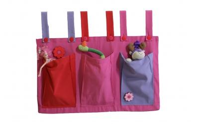 Textilní kapsy růžové
