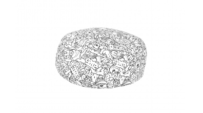 Sedací polštář COMICS - černobílý