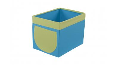 Textilní box do regálu tyrkysovo/zelený