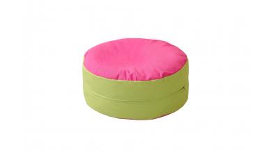 Sedací polštář zeleno/růžový