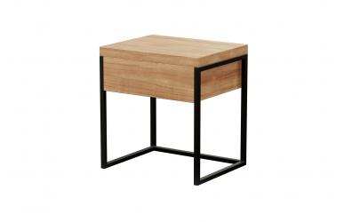 Noční stolek HEAVY OAK se zásuvkou, MATERASSO