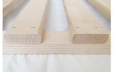 Postelový rošt laťkový v rámu 140x200 cm, výška 4,5 cm, buk