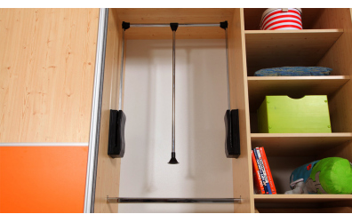Výklopná šatní tyč do skříně D653