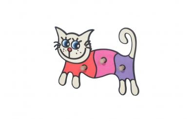 Dětský věšák kočka smrk