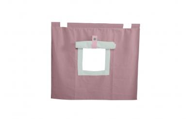 Závěsná textilie PASTEL pod zvýšené jednolůžko-fialová