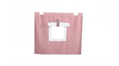 Závěsná textilie PASTEL pod zvýšené jednolůžko-růžová