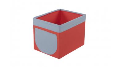 Textilní box do regálu cihlovo/šedý