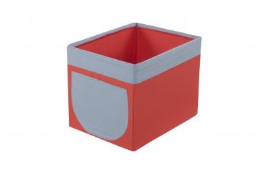 Textilní box do regálu cihlovo šedý