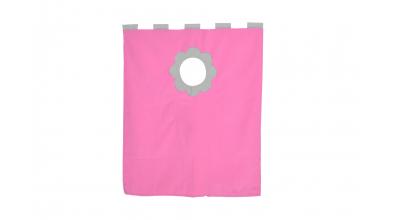 Závěsná textilie palanda nízká - růžovo/šedá