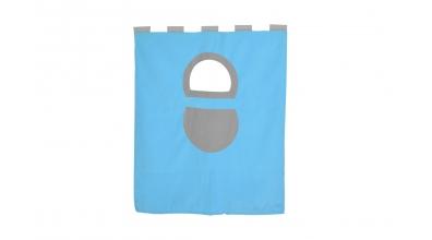 Závěsná textilie palanda nízká - tyrkysovo/šedá