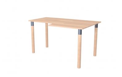Psací stůl ERGO maxi pravý buk cink