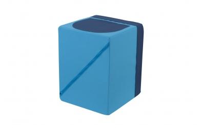 Textilní box do regálu tyrkysovo modrý