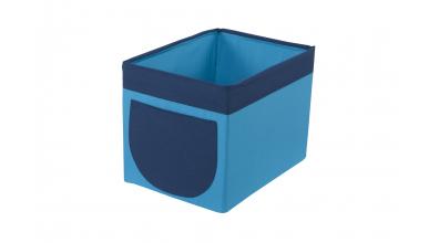 Textilní box do regálu tyrkysovo/modrý