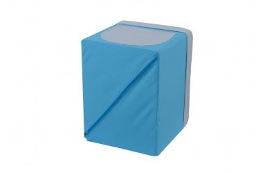 Textilní box do regálu tyrkysovo šedý