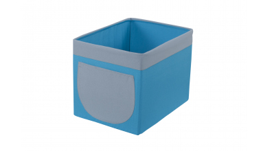 Textilní box do regálu tyrkysovo/šedý