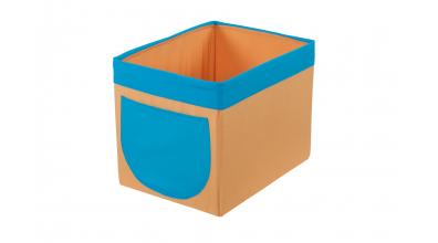 Textilní box do regálu žluto/tyrkysový