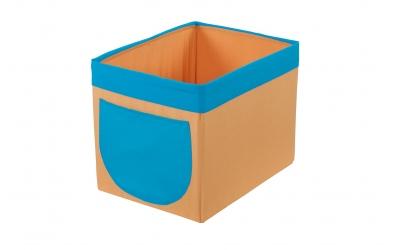 Textilní box do regálu žluto tyrkysový