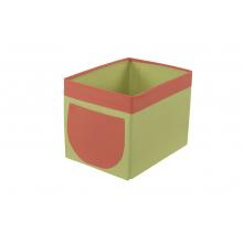 Textilní box do regálu zeleno/oranžový