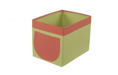 Textilní box do regálu zeleno oranžový