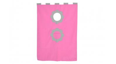 Závěsná textilie palanda-růžovo/šedá