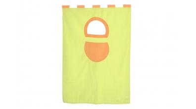Závěsná textilie palanda-zeleno/oranžová