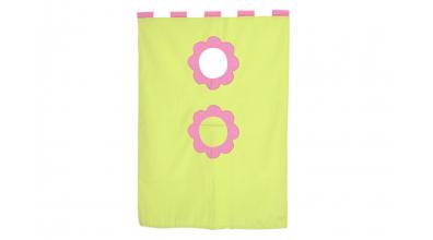 Závěsná textilie palanda-zeleno/růžová
