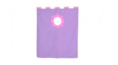 Závěsná textilie palanda nízká - fialová