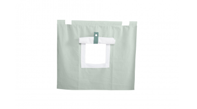 Závěsná textilie PASTEL pod zvýšené jednolůžko-mint