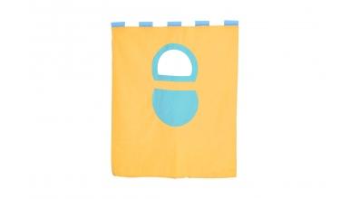 Závěsná textilie palanda nízká - žluto/tyrkysová