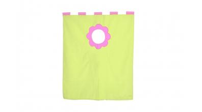 Závěsná textilie palanda nízká - růžovo/zelená