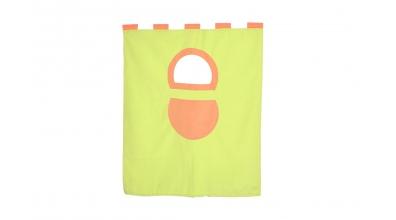Závěsná textilie palanda nízká - zeleno/oranžová