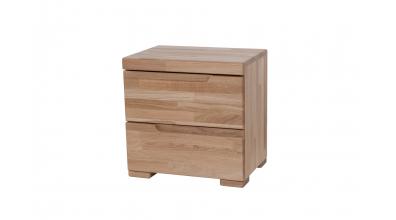 Noční stolek SOFIA & FLORENCIA 2  zásuvkový dub cink