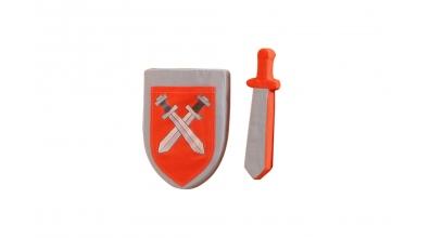 Textilie HRAD meč a štít