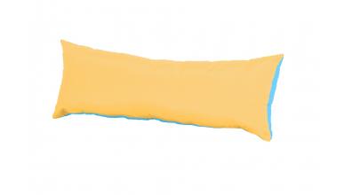 Polštář obdélník žluto/tyrkysový