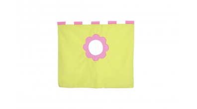 Závěsná textilie zvýšené jednolůžko - růžovo/zelená
