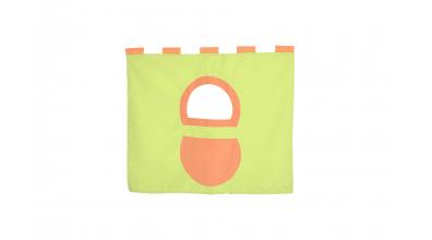 Závěsná textilie zvýšené jednolůžko - zeleno/oranžová