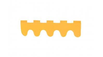 Textilie vlnky oranžová