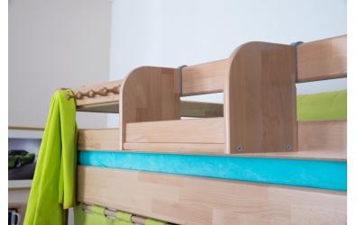 Závěsná police na postel krátká buk cink