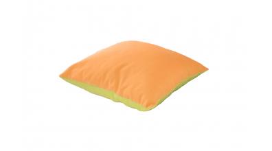 Polštář čtverec zeleno/oranžový