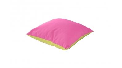 Polštář čtverec zeleno/růžový