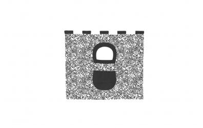 Textilie 5 COMICS - zvýšené jednolůžko 1175 mm černobílý